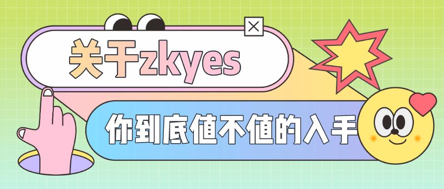 关于zkeys,你到底值不值得入手?