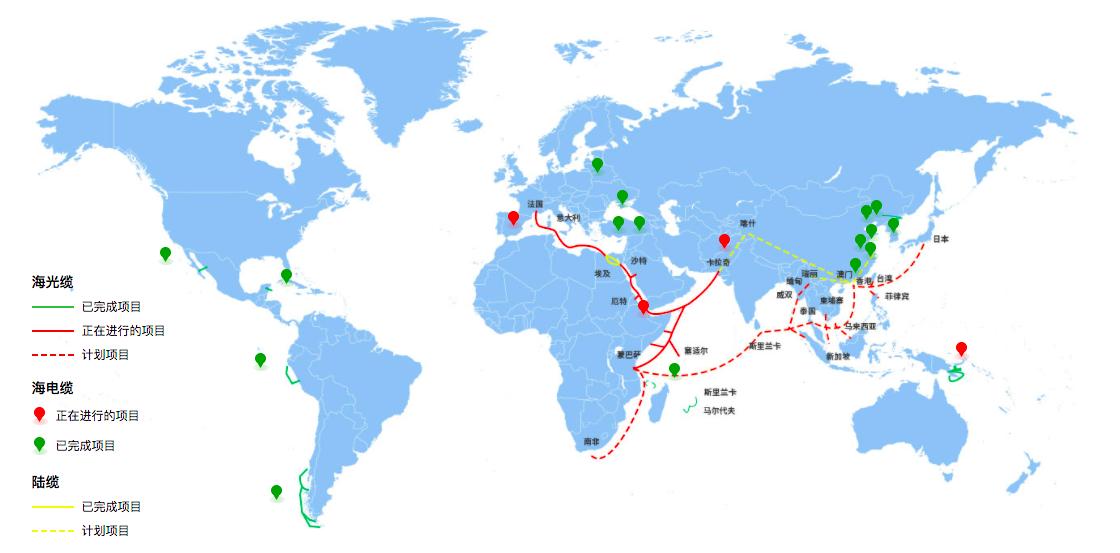 中欧海底光缆 PEACE 年底连通